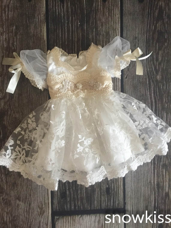 Couture white/ivory lace infant baptism outfit baby christening gowns short princess first communion birthday dresses for girls white ivory lace infant baptism baby girl christening gowns long dress princess first communion dresses with bonnet