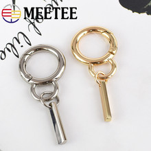 Meetee 3/5pcs 18/30mm Fashion Key Accessories Metal O Spring Ring Buckle DIY Keychain Tag Men Women Luggage Pendant Material
