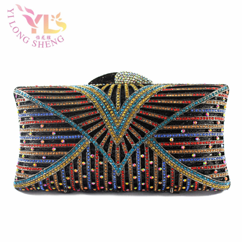 Clutch Evening Bags Wholesale Crystal Shoulder Handbags Crossbody Bags Hardcase Ladies Box Clutch Bag YLS-HOW22 re establishing identity
