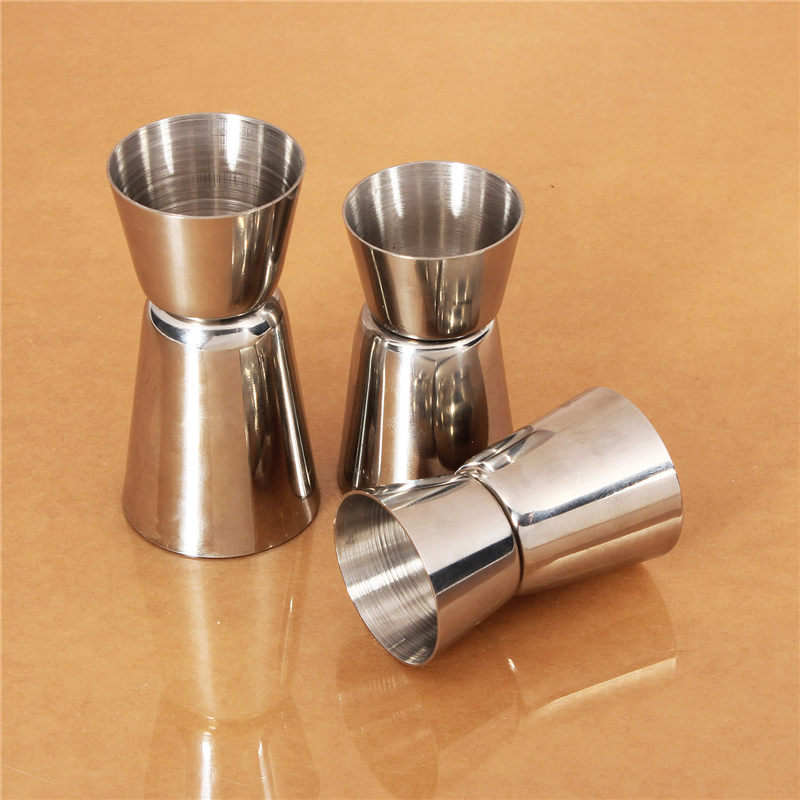 New double jigger shot short drink spirit measure cup for Cocktail express