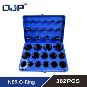 Image 5 - 382/386PC Black Rubber Ring 30Size Nitrile O ring Seal Washer Sealing NBR O ring Gasket Red/Blue/Yellow Assortment Set Kit Box