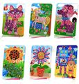 Kingtoy Kids EVA Mosaic Stickers Art Crafts Animals Diy Toy Girl and Boy DIY Educational Toy