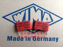 цена на 2019 hot sale 10pcs/20pcs Germany WIMA MKP10 0.01UF 1600V 103 1600V P: 15mm Audio capacitor free shipping
