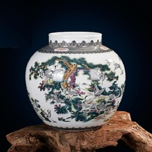 Jingdezhen ceramic vases Famous works Art vases 100 cranes Collectibles High-end gifts Porcelain цена и фото