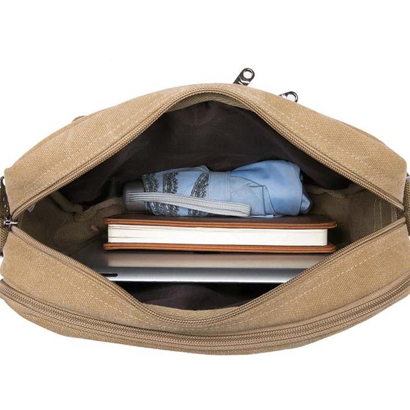 Nya 2018 multifunktionella män Crossbody Messenger Bags Canvas - Väskor för bagage och resor - Foto 6