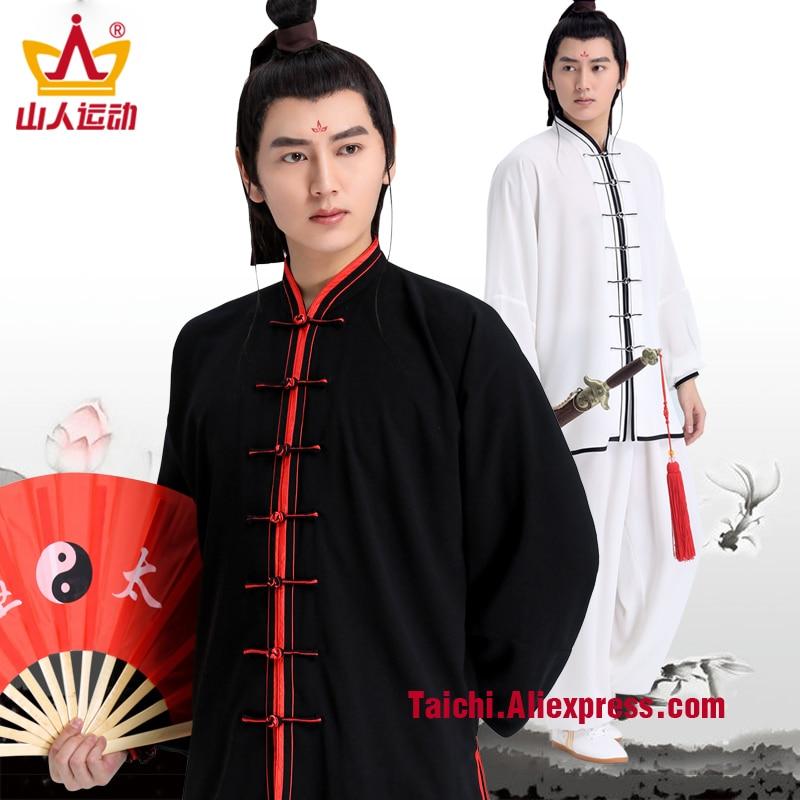 Male & Female Handmade Linen Tai Chi Uniform Wushu, Kung Fu,martial Art Suit  Chinese Stlye Sportswear Pink,blue,purple,black