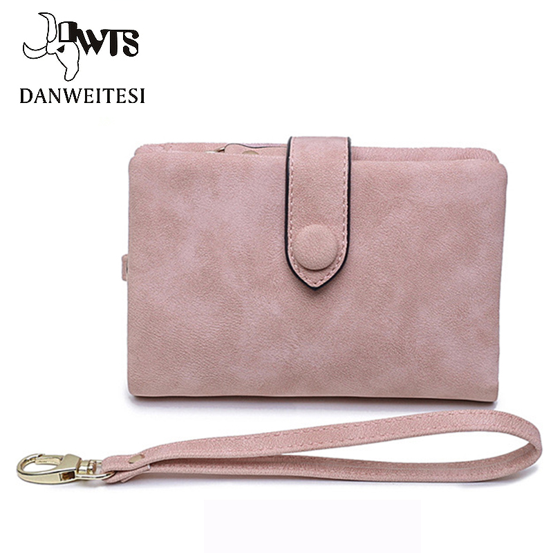 DWTS wallet women fashion small wallet leather purse female money bag small coin pocket top quality brand women wallets цена