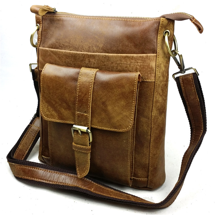 Bolso de hombre de cuero genuino de nobuck bolso casual de hombre - Bolsos - foto 2