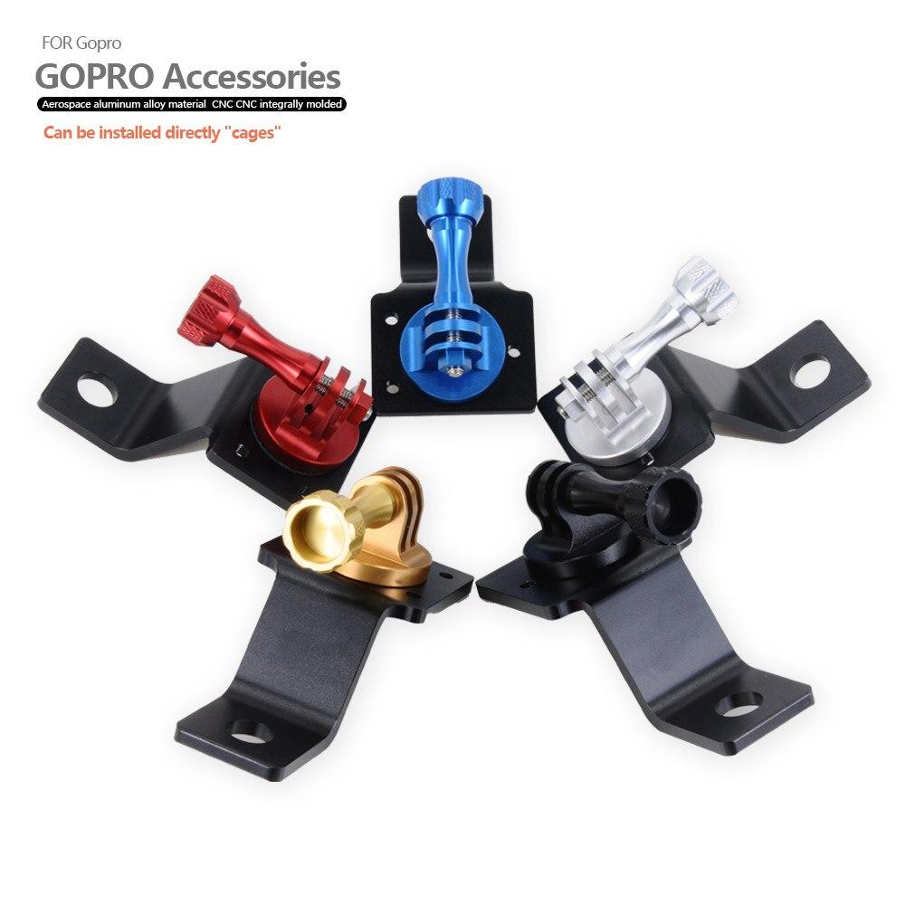 Coloré CNC En Aluminium Moto Trépied Support de Montage avec Vis pour Gopro 5 3 3 + 4 XiaoYi D'action caméra 18791TW /5