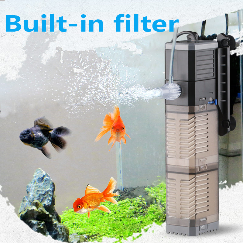 SUNSUN Super 4 In 1 Sunsun Internal Aquarium Filter Pump Fish Tank Multifunction Wave Maker Water Circulation Air Pump Filter
