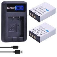 Batmax 2pc FNP 85 NP85 NP 85 Battery + LCD USB Charger for Fujifilm S1 SL1000 SL240 SL245 SL260 SL280 SL300 Cameras