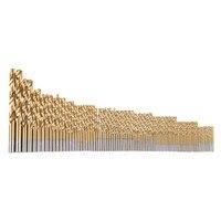 99pcs Set DIY Woodworking Metalworking Manual Twist Drill Bits Titanium Coated High Speed Steel Drill 1