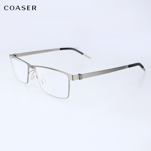 d8830b99fbb Germany IC Quality Stainless Steel metal frame Glasses Men Square Myopia  prescription eyewear optical eyeglasses frame spectacle