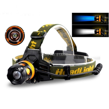 AloneFire HP82 Cree XPE Q5 2 LED Blue white Double light source Zoom led Headlamp Headlight for 1/2×18650 rechargeable battery