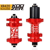 KOOZER XR420 front rear hub 24 holes bicycle hubs quick release 4 bearings 6 pawls 72 clicks straight pull MTB mountain bike