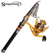 Sougayilang Stick Fishing Rod de Carbon Fiber Carp Feeder Spinning Fishing Rod Set Reel for China Best Sea Telescopic Pole
