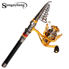Sougayilang Stick Fishing Rod de Carbon Fiber Carp Feeder Spinning Fishing Rod Set Reel for China Best Sea Telescopic Pole