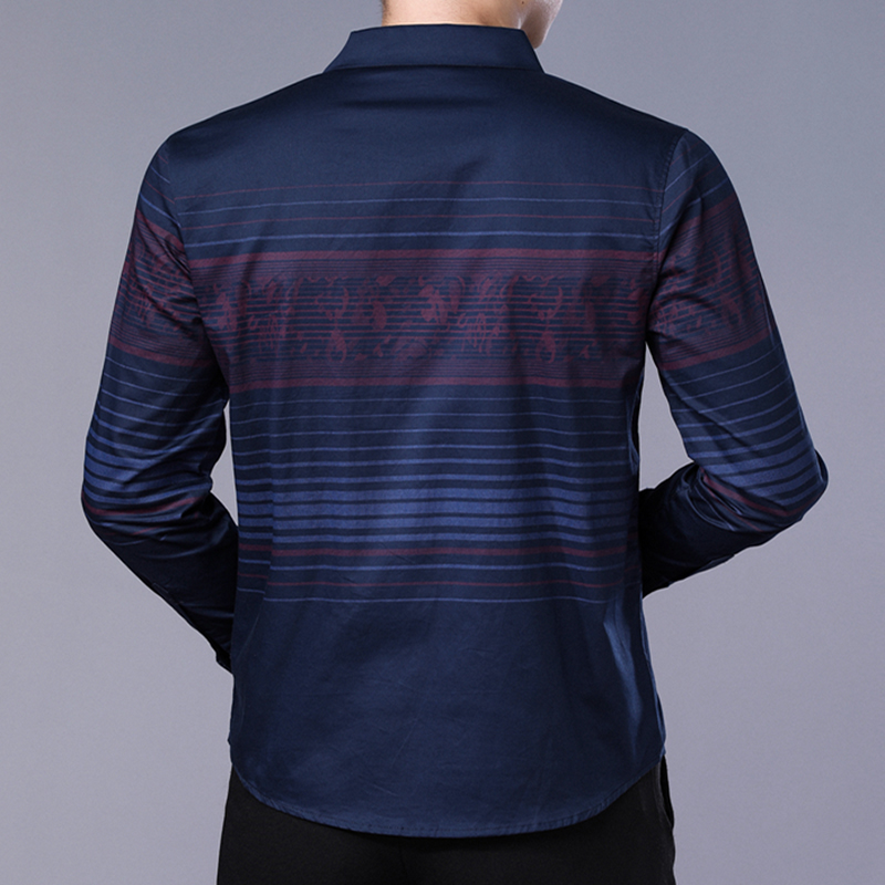 Image 4 - DUDALINA Me Shirt 2020 Camisa Casual Long Sleeve Shirt Men Soft Slim Fit Brand Men Clothes ShirtCasual Shirts   -