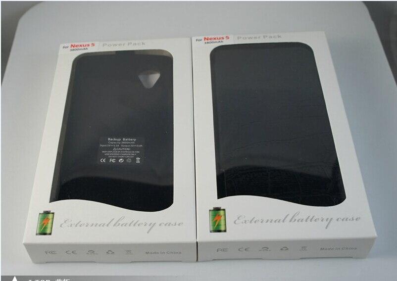 imágenes para Para LG Google Nexus 5 5V ~ 0.8A D802 3800 mAh Recargable Cargador de Batería Externo Del Banco de Potencia Para Google Nexus 5