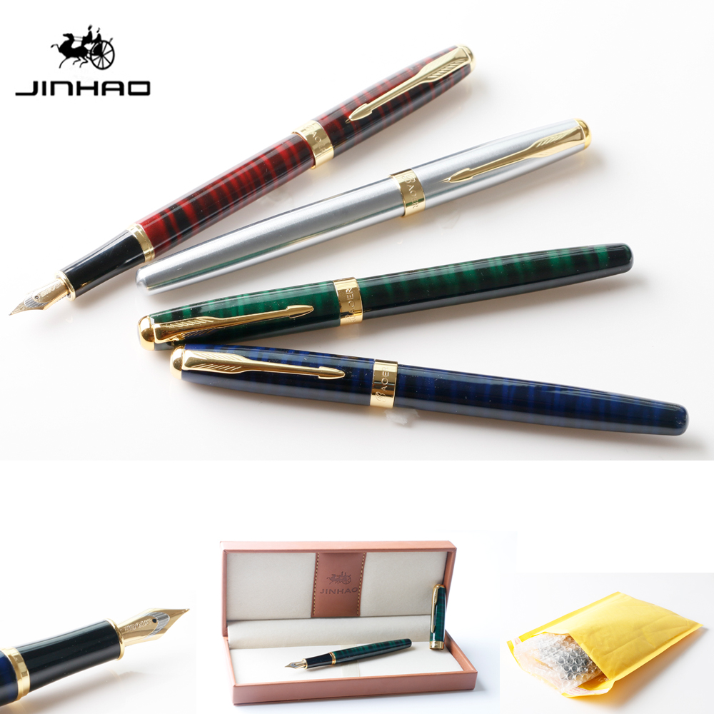 Luxury jinhao Baoer 388 metal Ink Fountain Pen 0.5 mm Nib with Golden Clip for School and Office Supplies Writing kitnsn2828201nsn5220835 value kit nib nish 8520015220835 purell instant hand sanitizer nsn5220835 and nib nish 7510002828201 binder clip nsn2828201