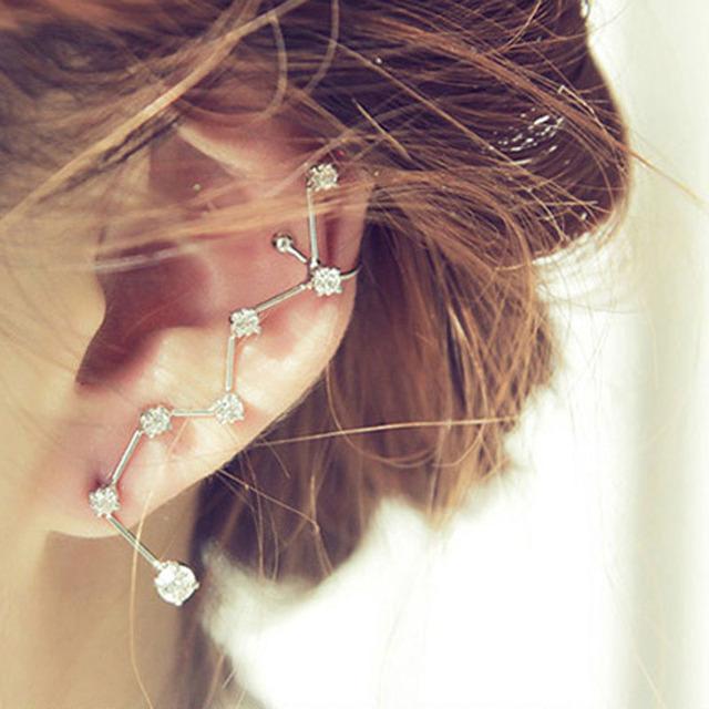 1pc rhinestone constellation design ear cuff gift for women E3294