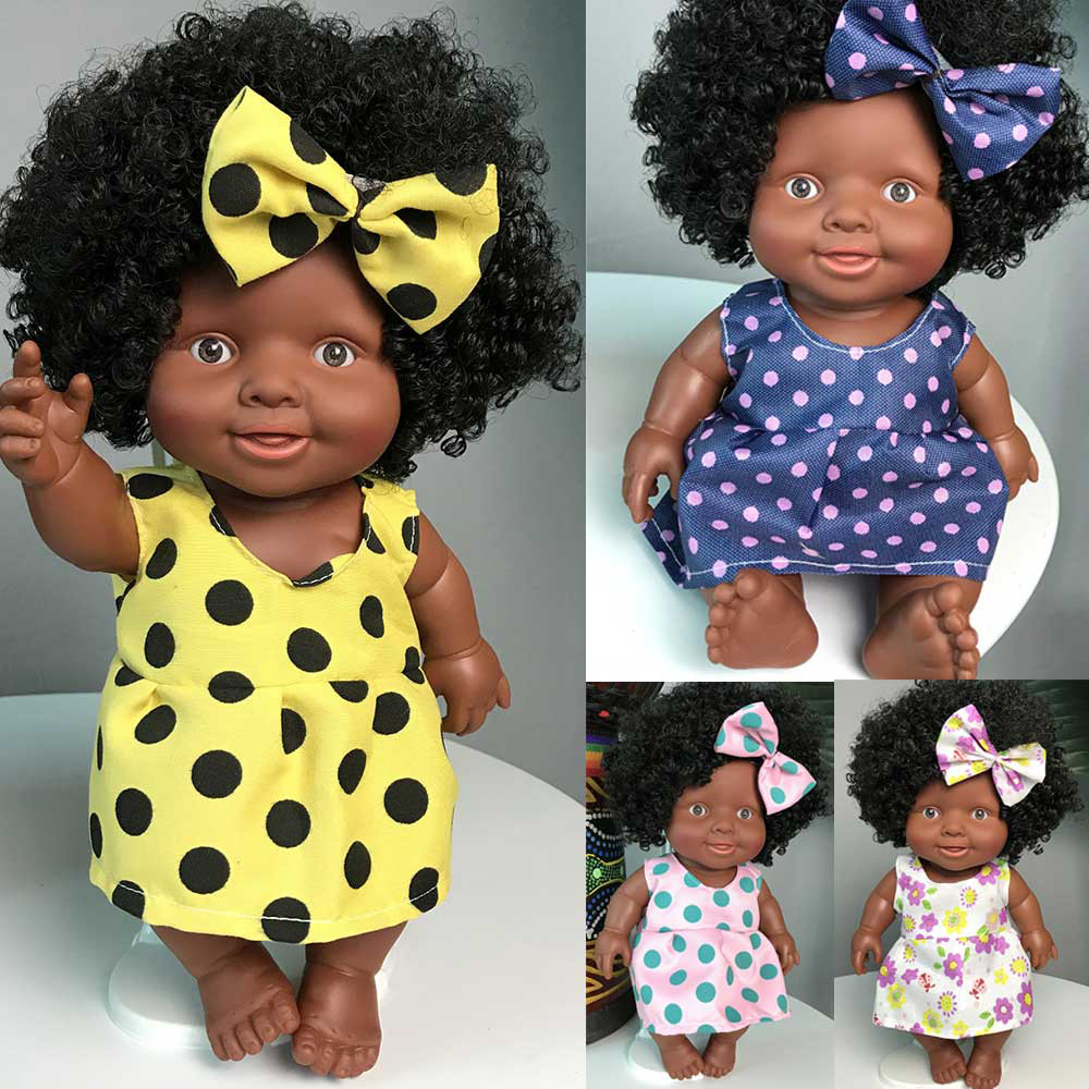 <font><b>lol</b></font> <font><b>Doll</b></font> Surprise For Girls Plastic <font><b>Doll</b></font> Toy For Children Bebe Reborn Menina Corpo De Silicone Movable Joint African <font><b>Dolls</b></font> K418 image