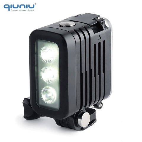 QIUNIU 50M Underwater Diving LED Light Waterproof Fill Light for GoPro Hero 8 7 6 5 4 for DJI Osmo Action for Canon DSLR Cameras Lahore