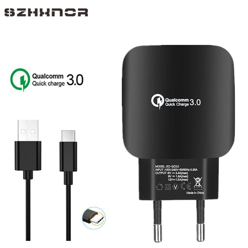 5c37cba22d5637 QC3.0 USB Charger EU Mobile Phone Charger Adapter Wall Travel Charger For  Bluboo Maya