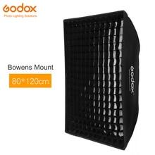 "Godox 32 ""x 47"" 80x120 سنتيمتر العسل شبكة سوفت بوكس لينة صندوق مع بونز جبل ل استوديو ستروب ضوء فلاش"