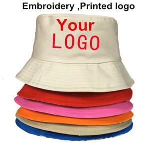 f1fb088fee1 New Custom Logo Men Women s Casual Bucket Hats Emrboidery Printed Logo  Letter Picture Fishing Caps