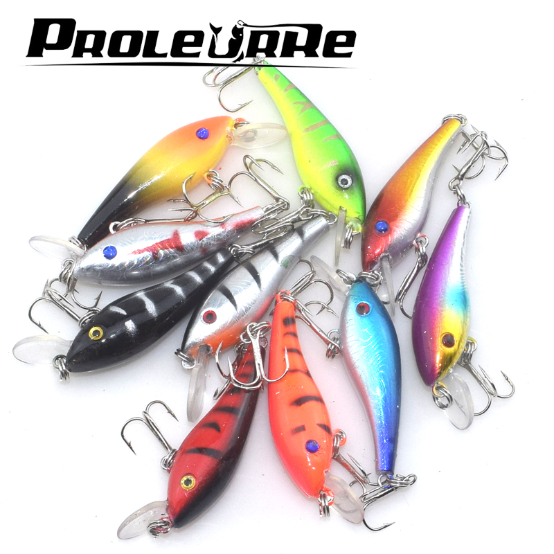 1pcs 60mm 4.5g Crank Bait Swim Fishing Lures Wobbler Artificial floating hard bait Mini topwater fishing crankbait Pesca