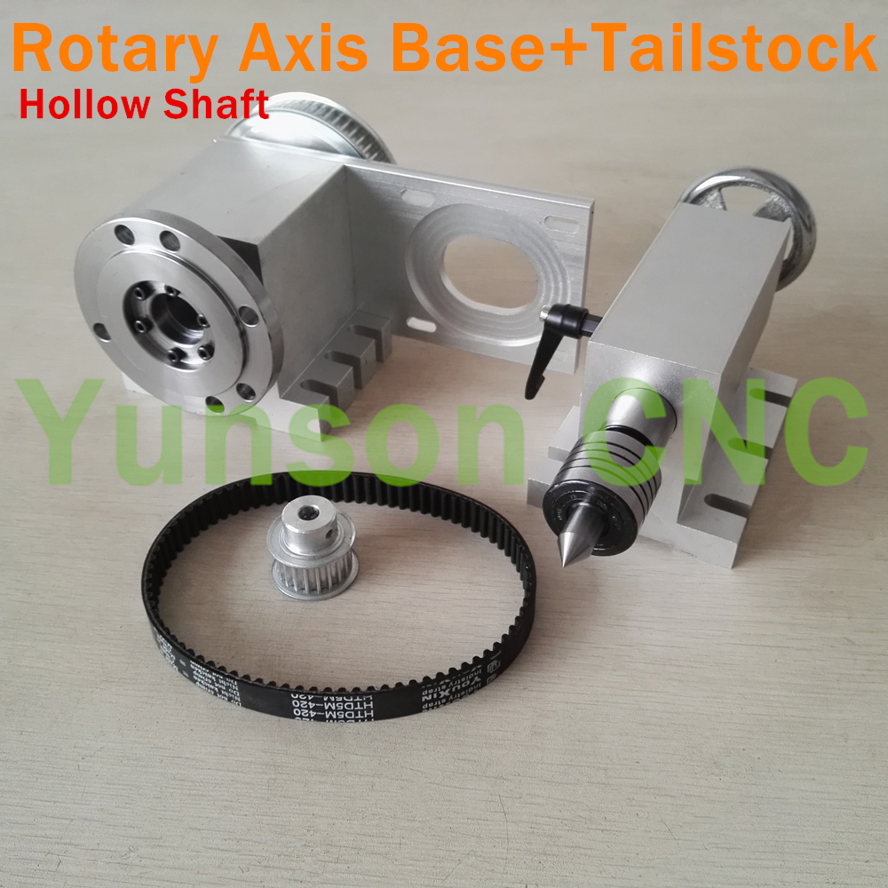 1pcs CNC 4th Axis Hollow Shaft 100mm diameter Connected Plate Rotary Axis Base 1pcs Morse 2