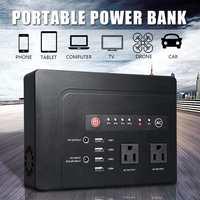 250 Вт Солнечный чистый синусоидальный инвертор 146WH резервная электростанция генератор AC/DC Светодиодный индикатор портативный блок питания