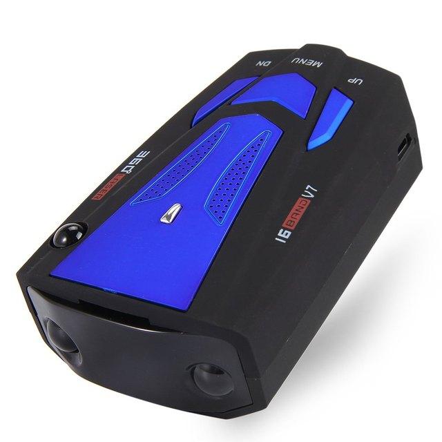Zeepin Anti Radar Car Radar Detector Laser Radar Detector Russian Car Detector V7 Speed Voice Alert Warning 16 LED Display