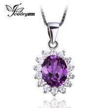 Jewelrypalace princesa diana william kate middleton 3.2ct creado alejandrita de zafiro colgante de plata de ley 925 para las mujeres