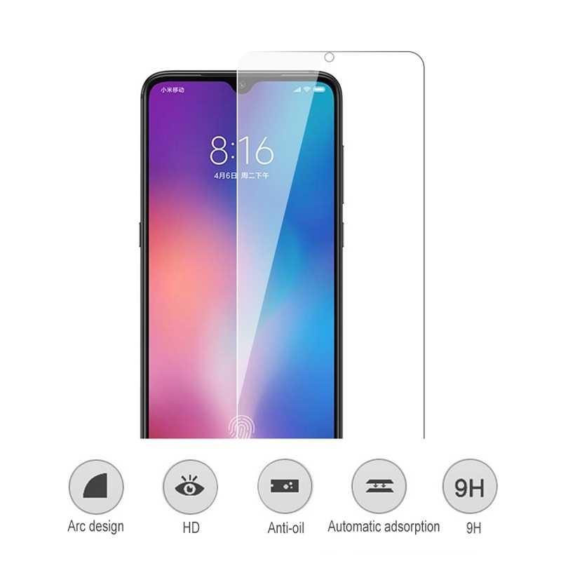 Pelindung Layar Anti Gores untuk Xiao Mi Xio Xio Mi 9 9T 8 Se Lite Pro Mi CC9 E merah Mi K20 Pro Ponsel Pelindung Kaca Film