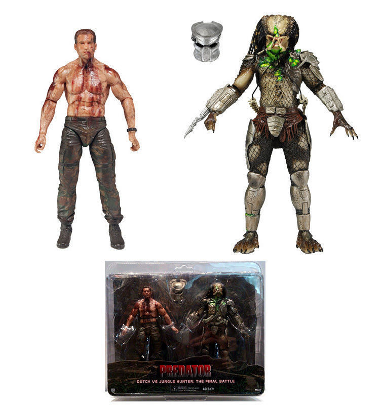 NECA PREDATOR DUTCH VS JUNGLE HUNTER: THE FINAL BATTLE ACTION FIGURE TOY GIFT Anime Figure Collectible Model Toy