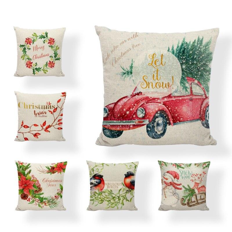 Mistletoe Christmas Cushion Covers Pillow Cases Home Decor or Inner