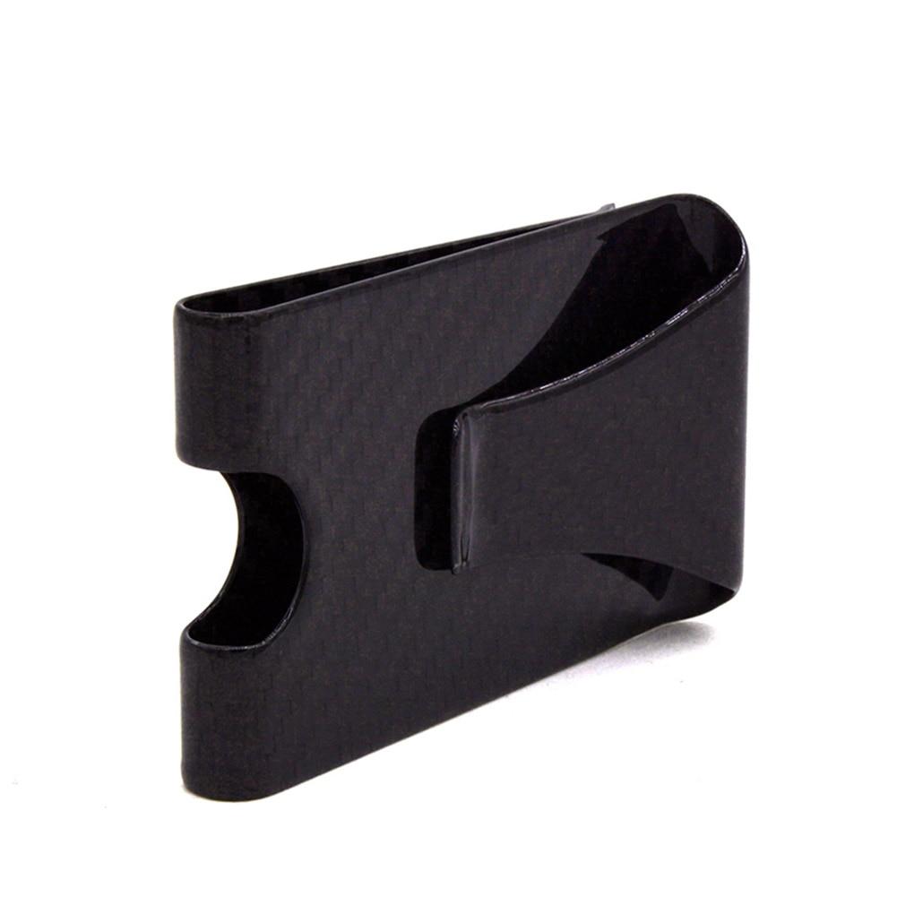 Men Simple Slim Wallet Carbon Fiber Front Pocket Purse Blocking Credit Cards Holder WML99