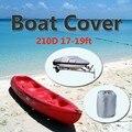 Подробная информация о 17-19ft тяжелых катере лодка покрова серый водонепроницаемый защитой от ультрафиолетового излучения