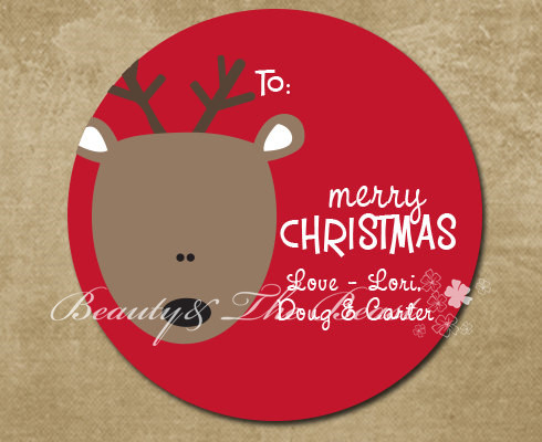 Personalized bottle stickerschristmas tagsgift box labels for christmascupcake toppers