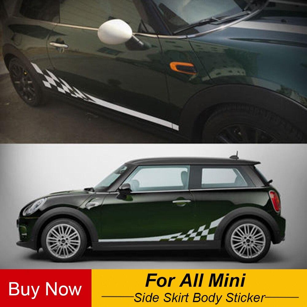 сбоку юбка тела автомобилей переводные картинки стикеры для Bmw Mini