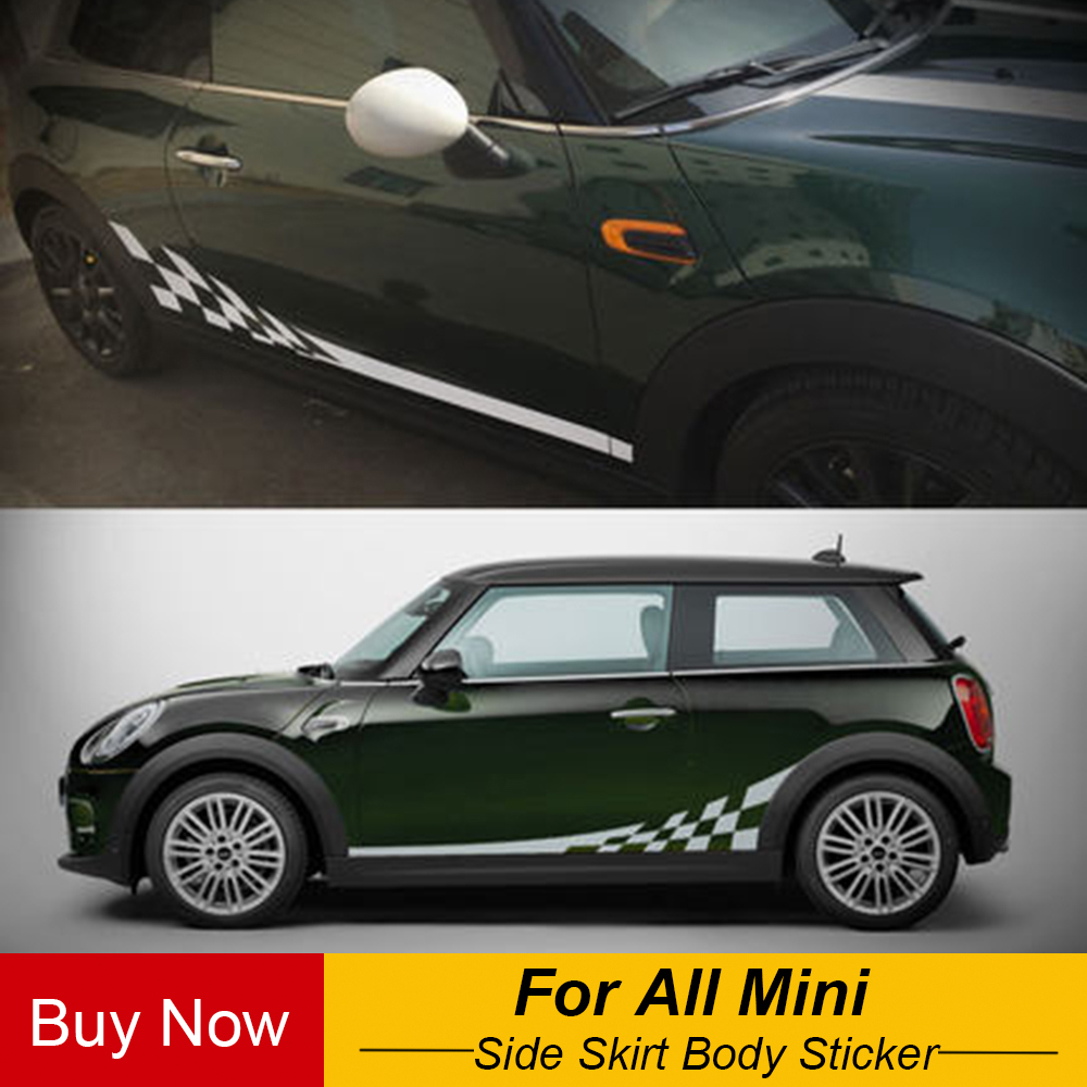 Side Skirt Body Car Decals Sticker For Bmw Mini Cooper S One Jcw