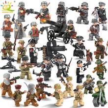 8 шт. военный спецназ армия Германии солдаты Книги об оружии Пистолеты цифры WW2 блоки детские игрушки, совместимые Legoed полиции города
