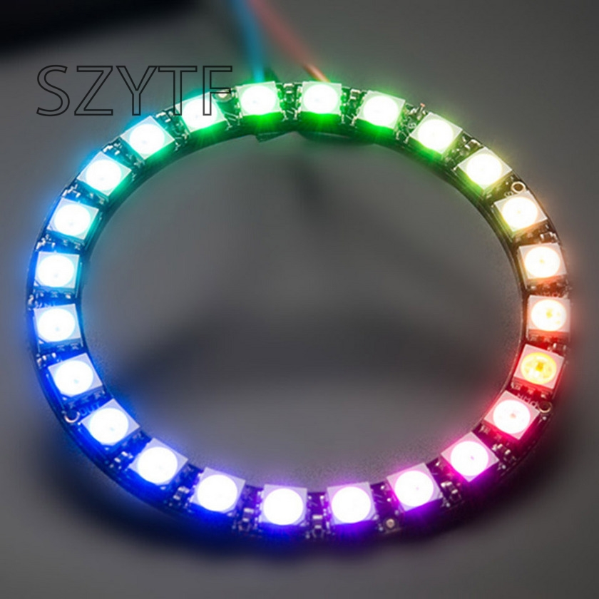 24bit WS2812 5050 RGB LED Built-in full-color actuate lights Round development board