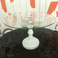 Tempered glass cake stands for wedding decoration 10 inch/12 inch