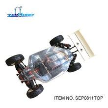 Rc car toys 1/8 масштаба багги с электрическим приводом 4wd off road бесщеточный двигатель высокой скорости ясно кузова (пункт нет. SEP0811TOP)