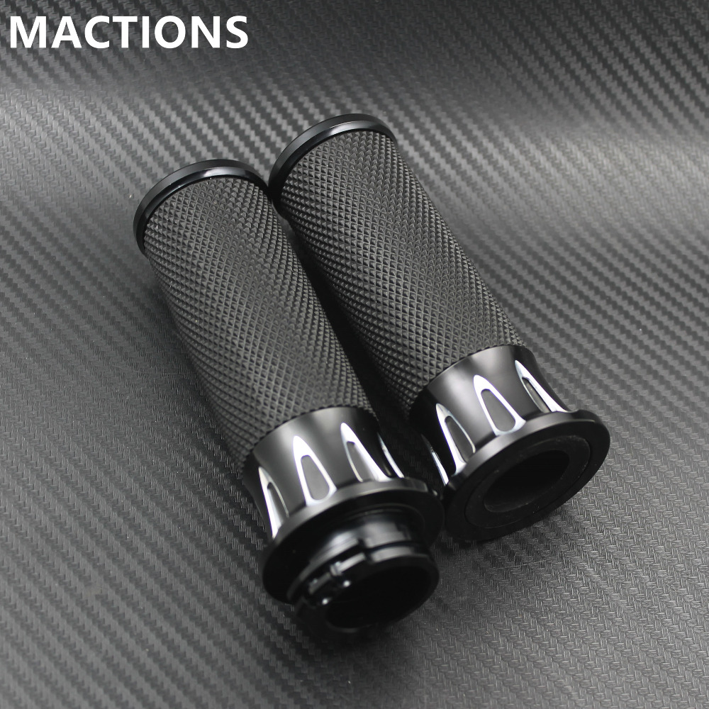 Motorcycles Grips 125mm Black Handle Bar Hand Grips For Harley Sportster XL883 1200 Touring Dyna Softail Custom VRSCMotorcycles Grips 125mm Black Handle Bar Hand Grips For Harley Sportster XL883 1200 Touring Dyna Softail Custom VRSC