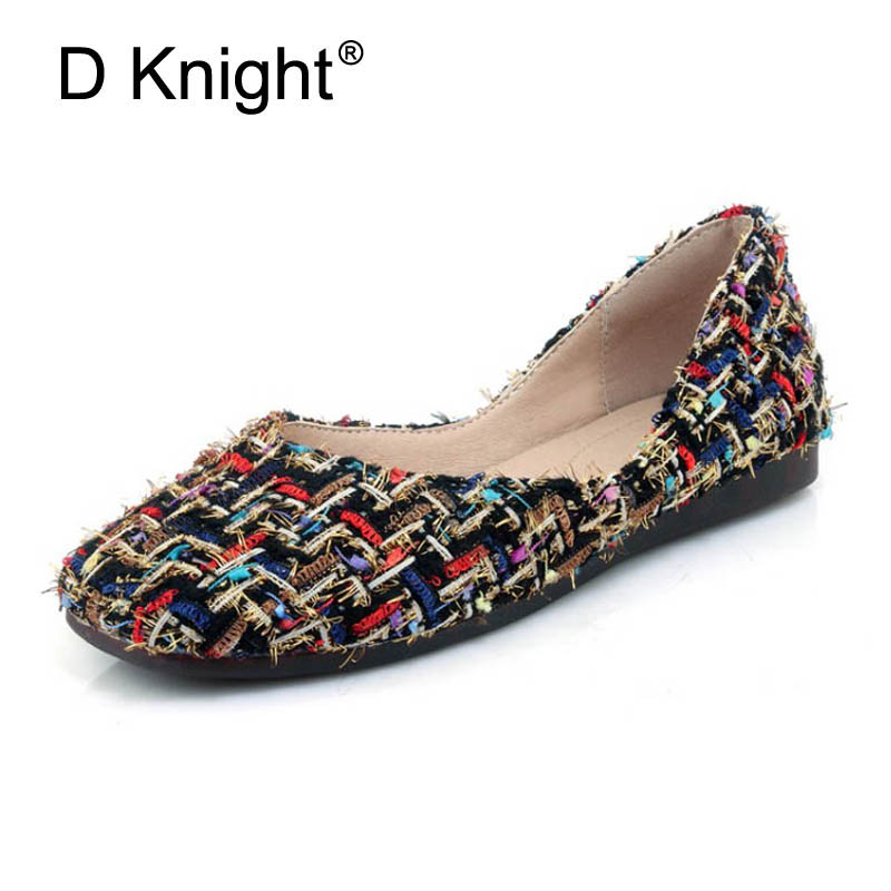 2018 Fashion Flats Women Casual Boat Shoes Sexy Square Toe Rubber Flat Shoes For Women Ladies Knitted Flock Loafers Size 30-44 beyarne rivets decoration brand shoes flats women spring autumn fashion womens flats boat shoes sexy ladies plus size 11