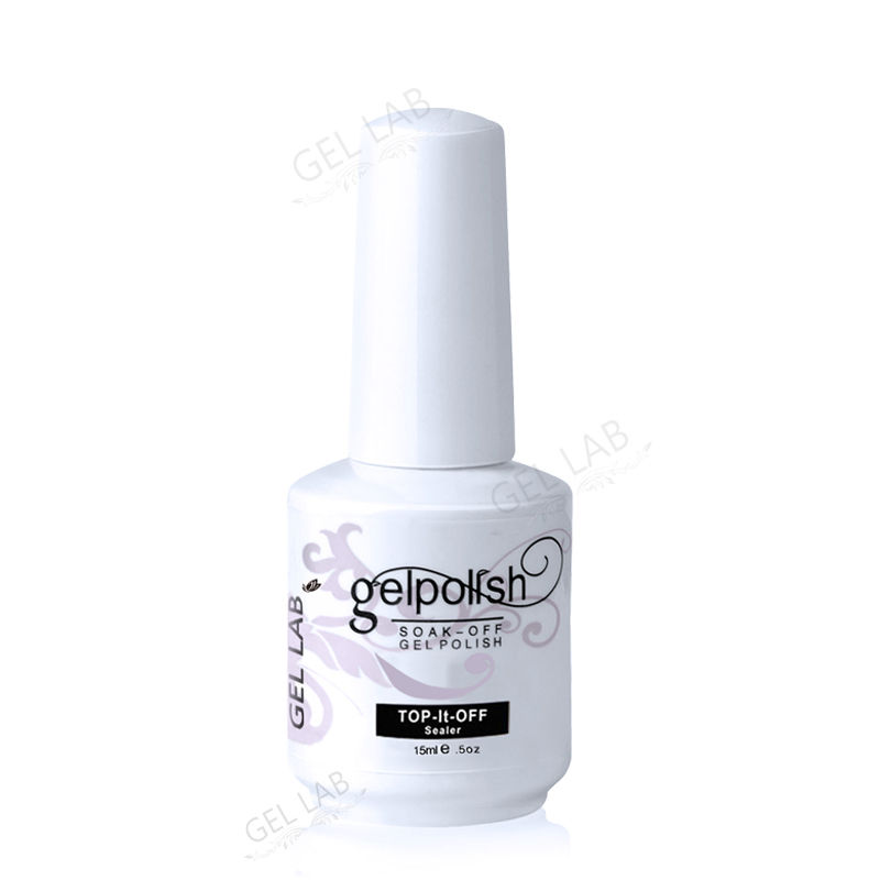 Gel Lab 15ml No Wipe Top Coat Gel Nail Polish Long Lasting